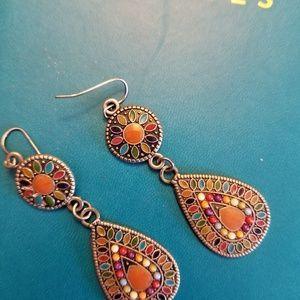 Jewelry - Southwest style enamel earrings